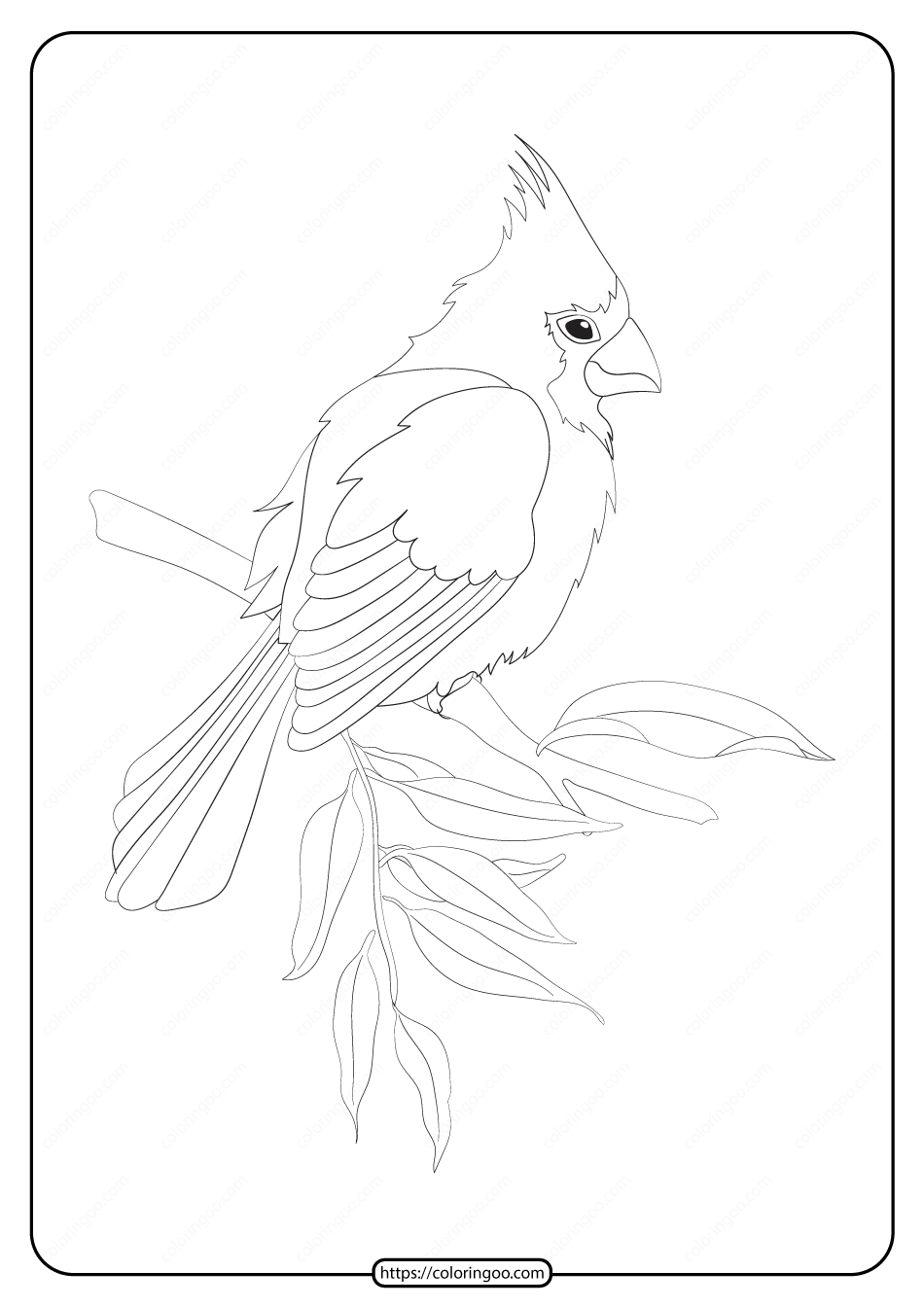 Free Printable Animals Bird Pdf Coloring Pages 22