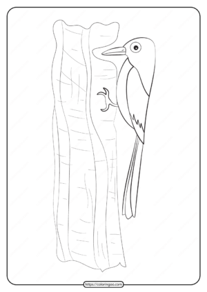 Free Printable Animals Bird Pdf Coloring Pages 24