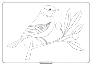 Free Printable Animals Bird Pdf Coloring Pages 26
