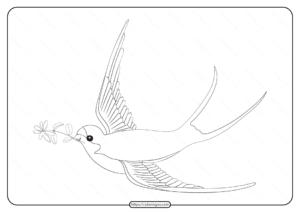 Free Printable Animals Bird Pdf Coloring Pages 27