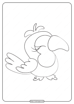 Free Printable Animals Bird Pdf Coloring Pages 32