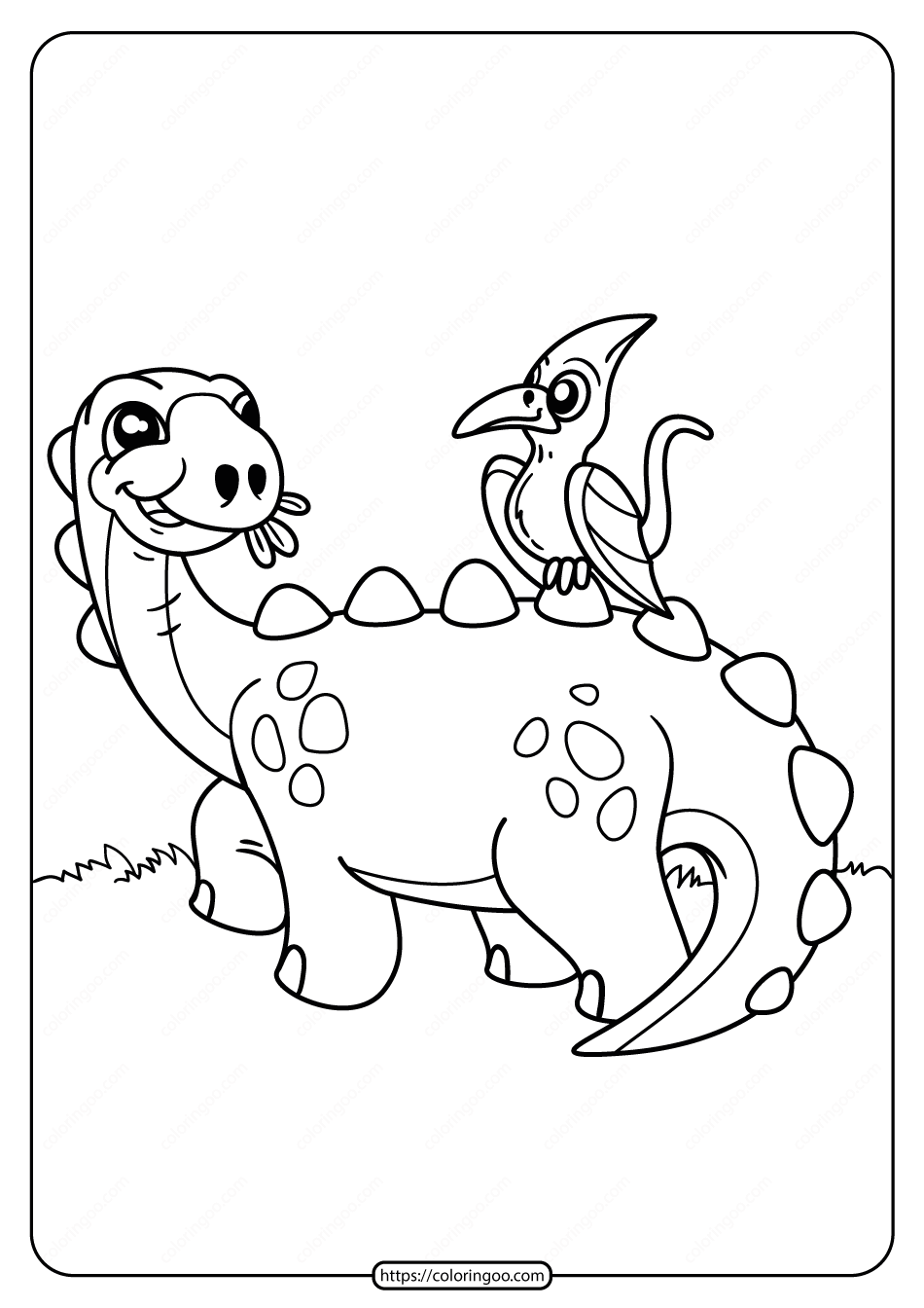 Free Printable Animals Dinosaur Coloring Pages 02