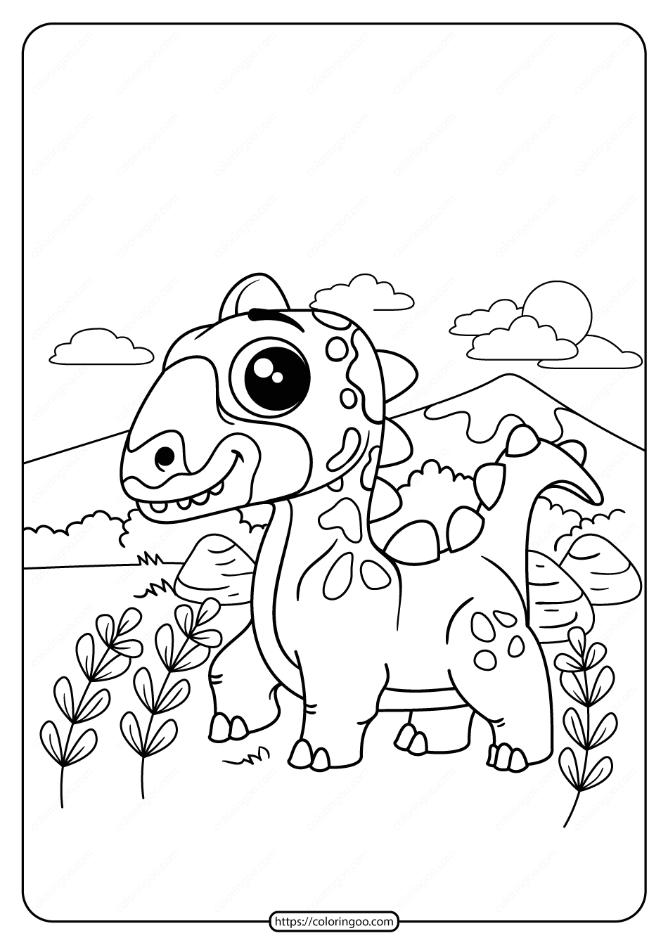 Free Printable Animals Dinosaur Coloring Pages 05