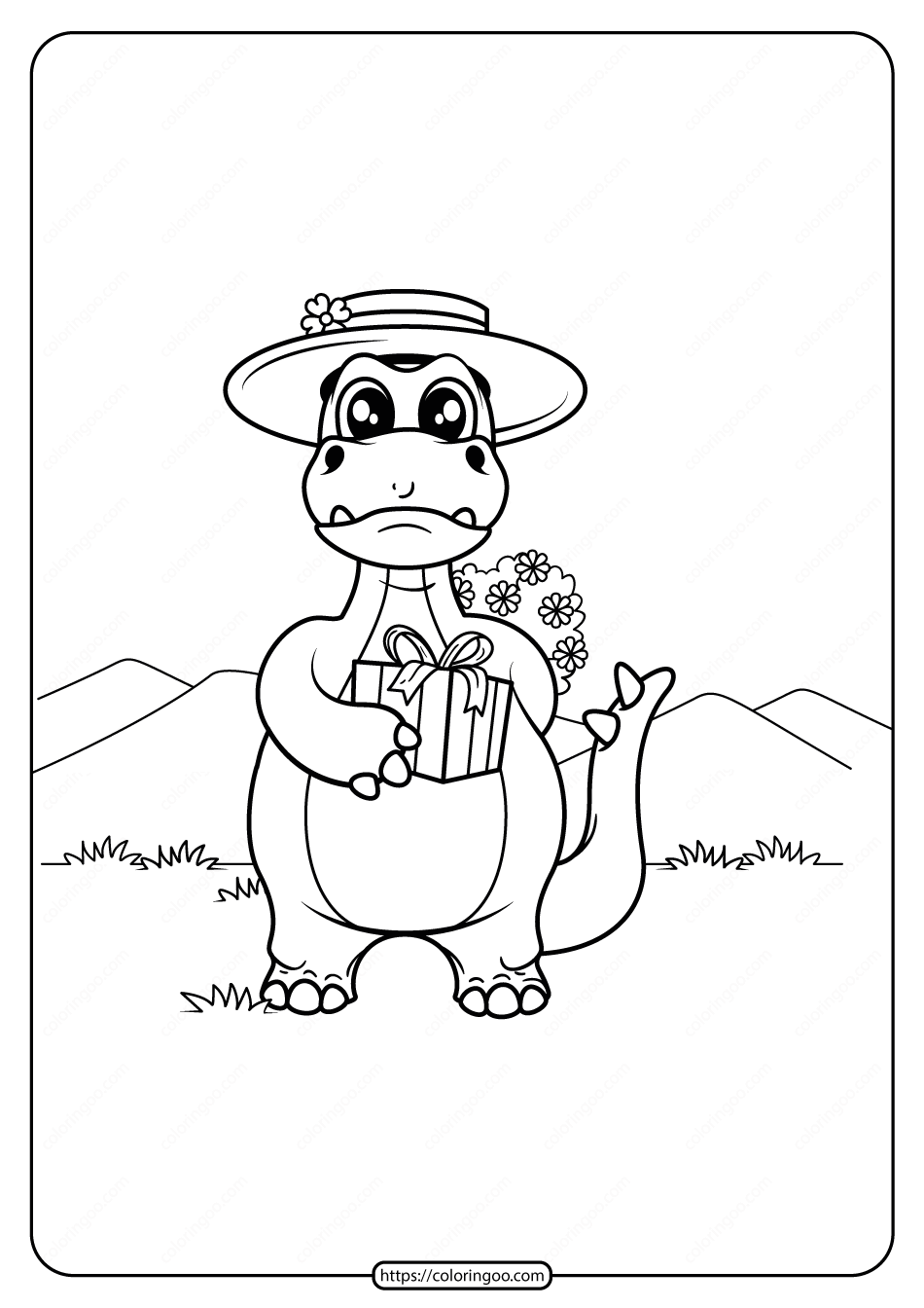 Free Printable Animals Dinosaur Coloring Pages 06