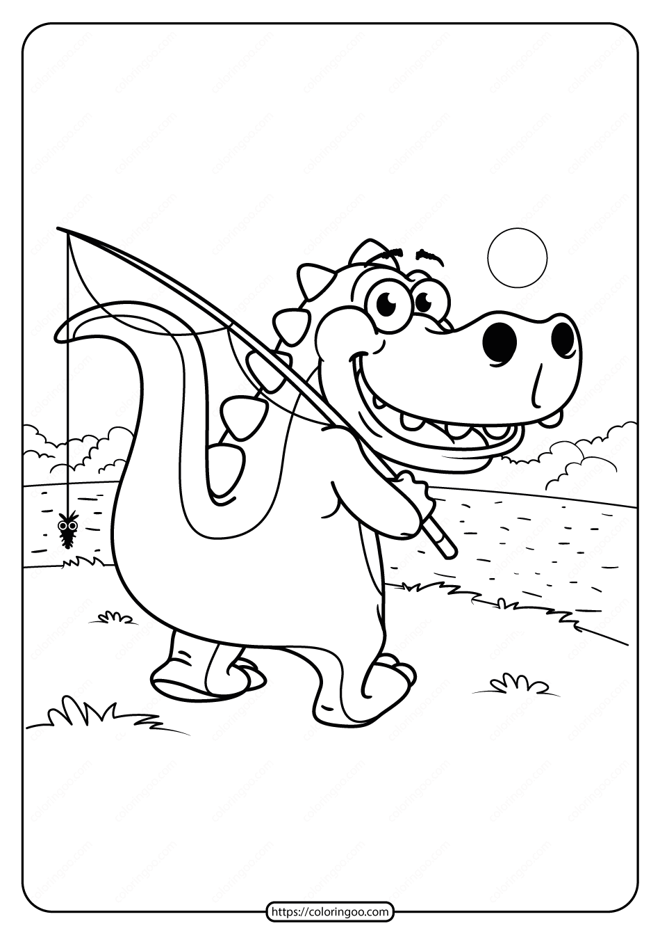 Free Printable Animals Dinosaur Coloring Pages 08