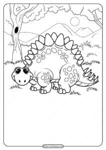 Free Printable Animals Dinosaur Coloring Pages 09