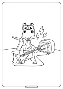 Free Printable Animals Dinosaur Coloring Pages 11