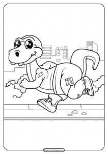Free Printable Animals Dinosaur Coloring Pages 12