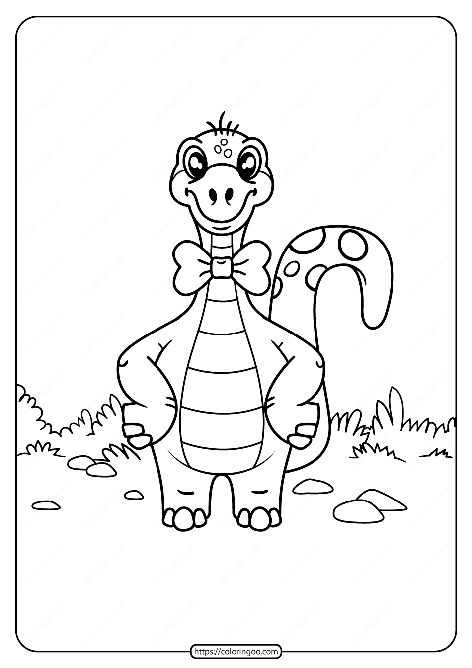 Free Printable Animals Dinosaur Coloring Pages 13