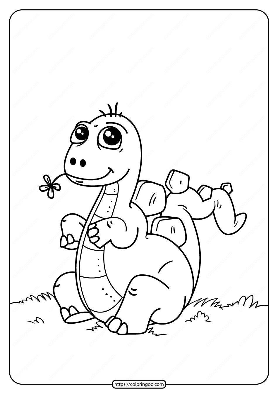Free Printable Animals Dinosaur Coloring Pages 16