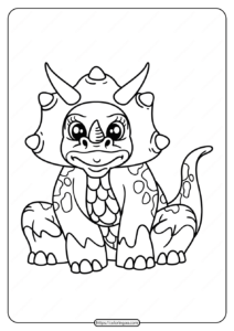 Free Printable Animals Dinosaur Coloring Pages 18