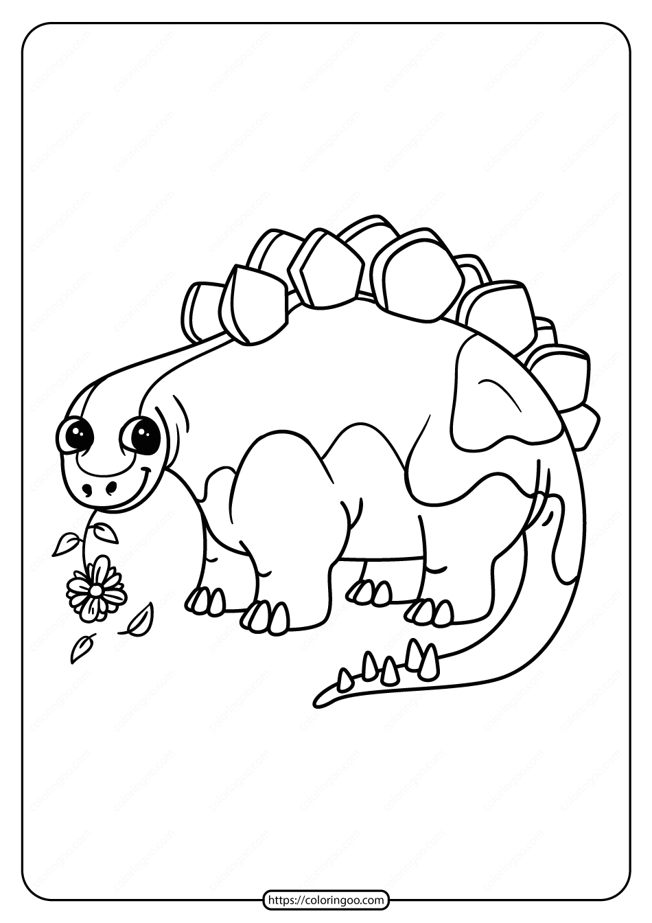 Free Printable Animals Dinosaur Coloring Pages 20