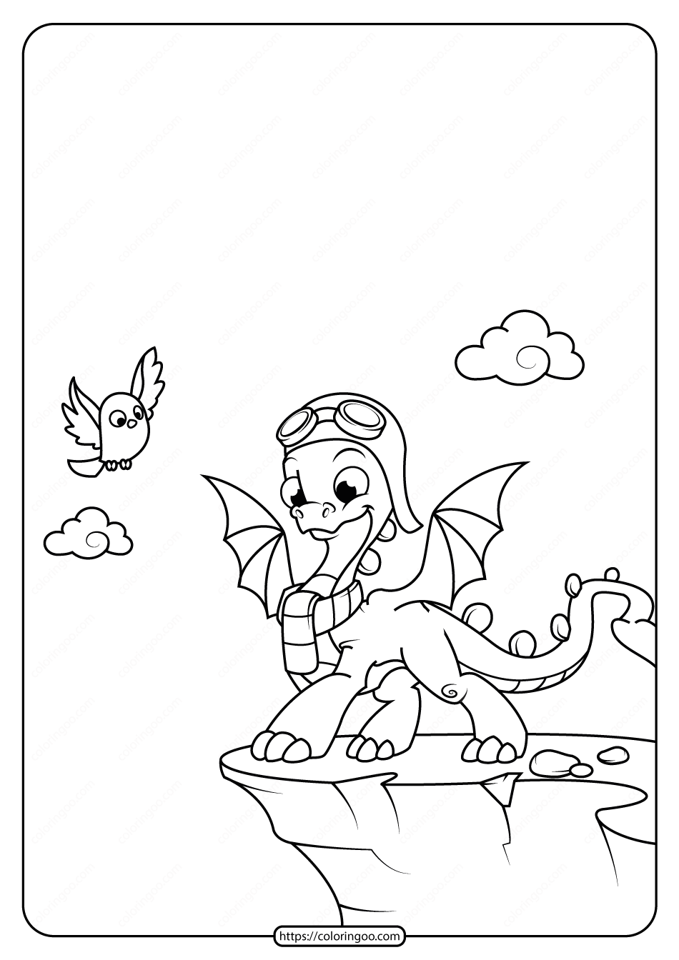 Free Printable Animals Dinosaur Coloring Pages 21