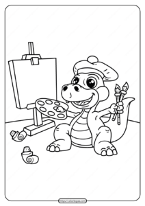 Free Printable Animals Dinosaur Coloring Pages 22