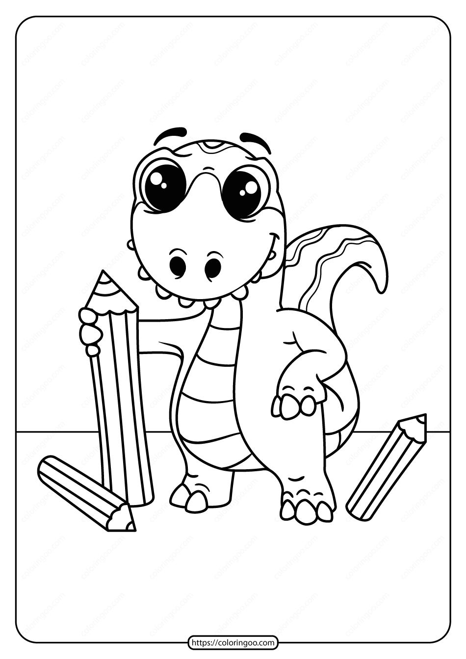 Free Printable Animals Dinosaur Coloring Pages 24