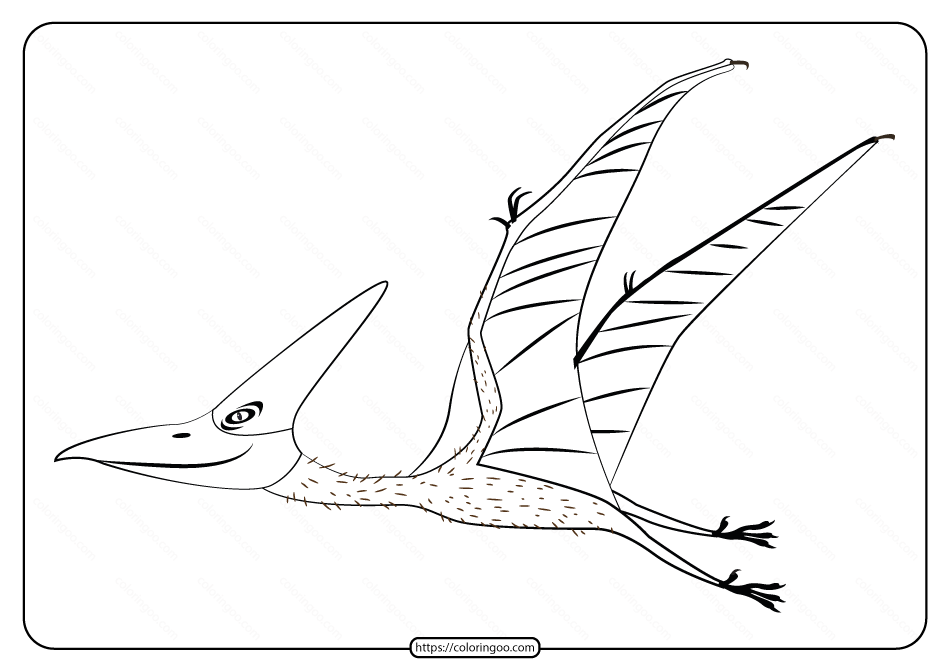 Free Printable Animals Dinosaur Coloring Pages 26