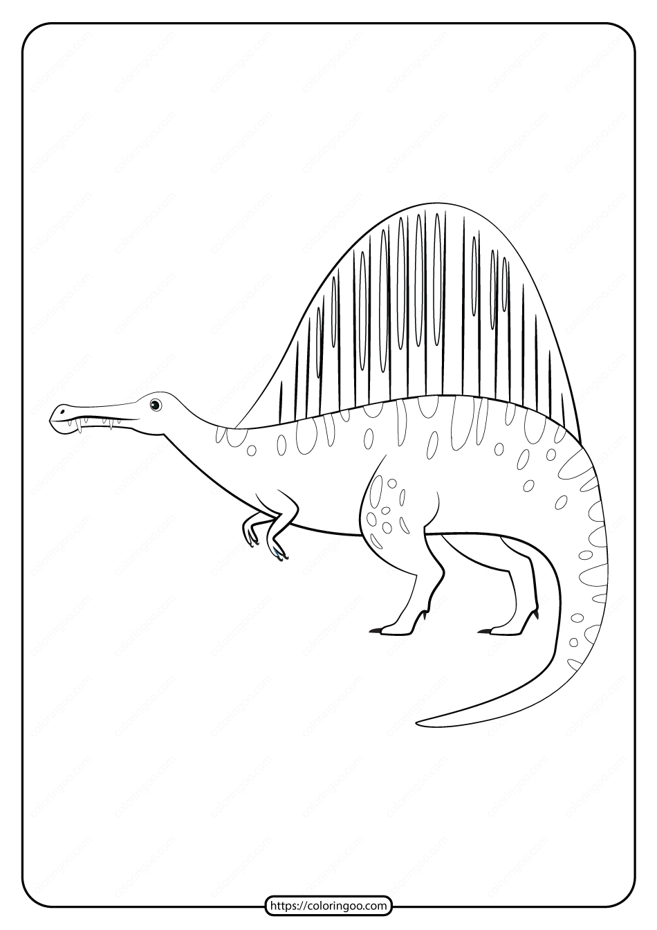 Free Printable Animals Dinosaur Coloring Pages 27