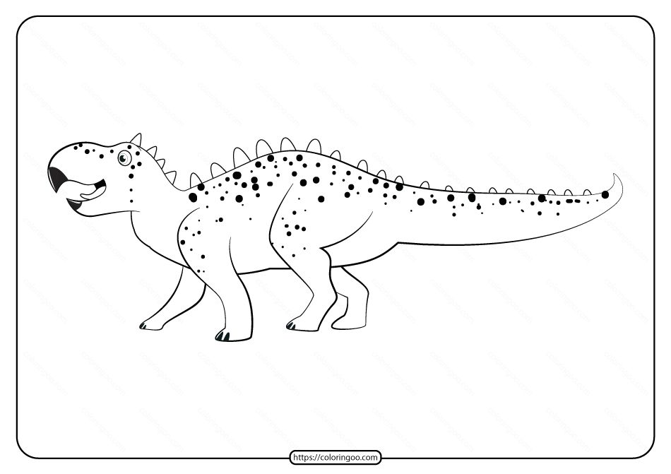 Free Printable Animals Dinosaur Coloring Pages 29