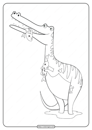 Free Printable Animals Dinosaur Coloring Pages 30