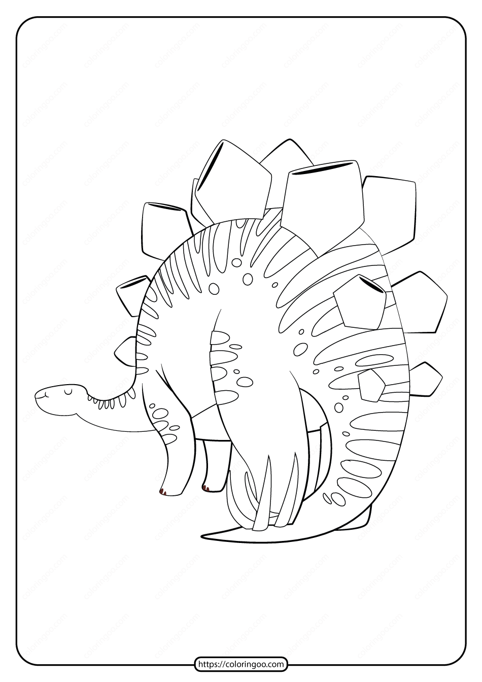 Free Printable Animals Dinosaur Coloring Pages 32