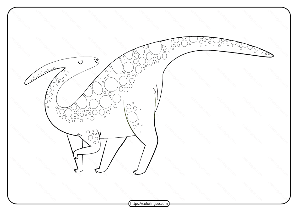 Free Printable Animals Dinosaur Coloring Pages 34