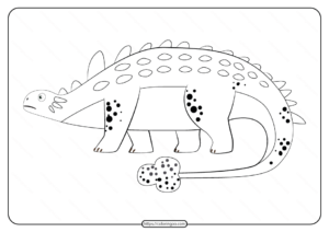 Free Printable Animals Dinosaur Coloring Pages 35