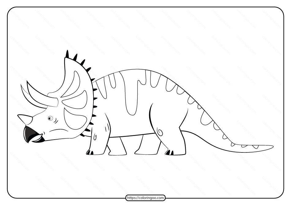 Free Printable Animals Dinosaur Coloring Pages 36