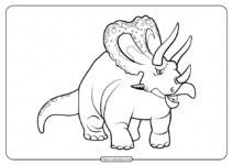 Free Printable Animals Dinosaur Coloring Pages 38