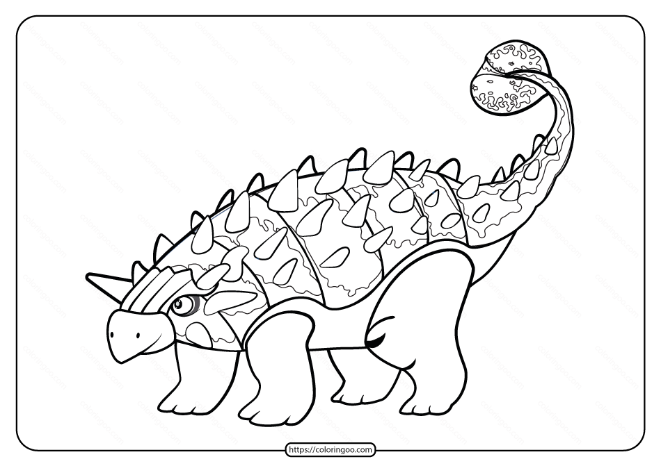 Free Printable Animals Dinosaur Coloring Pages 39