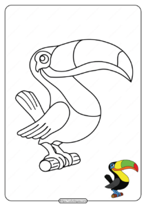Free Printable Colorful Toucan Pdf Coloring Page