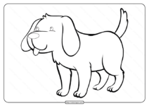Free Printable Cute Dog Pdf Coloring Pages