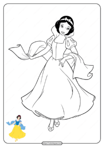 Free Printable Disney Princess Coloring Pages 01