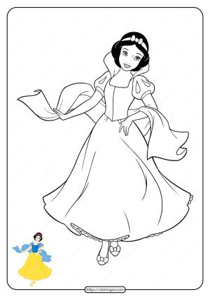 Free Printable Disney Princess Coloring Pages 01