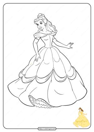 Free Printable Disney Princess Coloring Pages 03