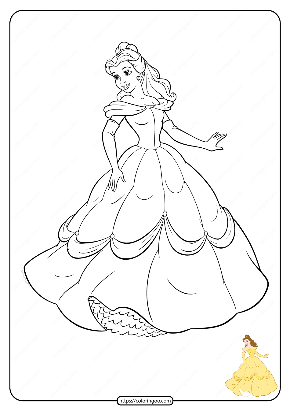Free Printable Disney Princess Coloring Pages 03