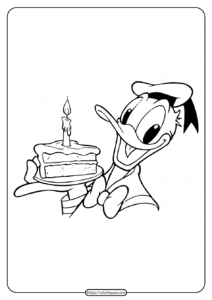 Free Printable Donald Duck Pdf Coloring Page 18