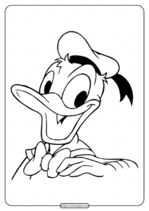 Free Printable Donald Duck Pdf Coloring Page 24