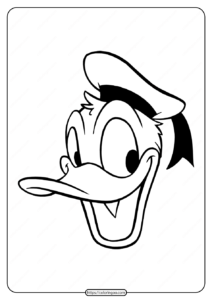 Free Printable Donald Duck Pdf Coloring Page 25