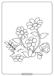 Free Printable Flowers Pdf Coloring Pages 01