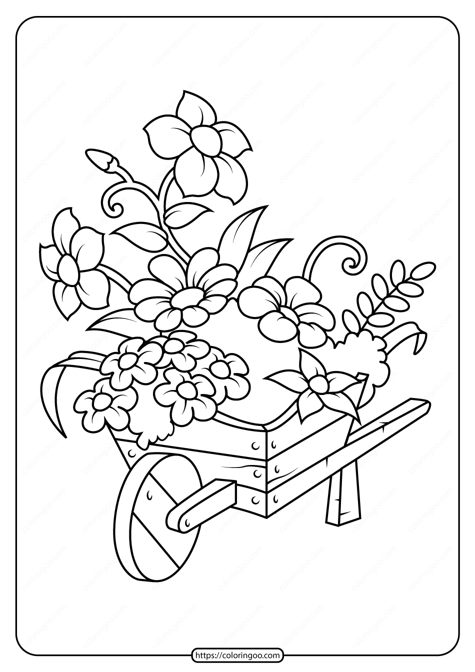 Free Printable Flowers Pdf Coloring Pages 02