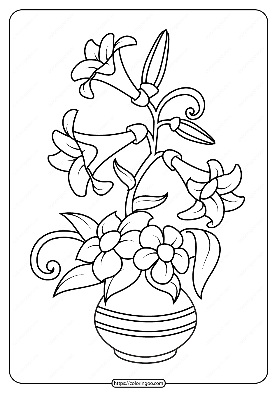 Free Printable Flowers Pdf Coloring Pages 03