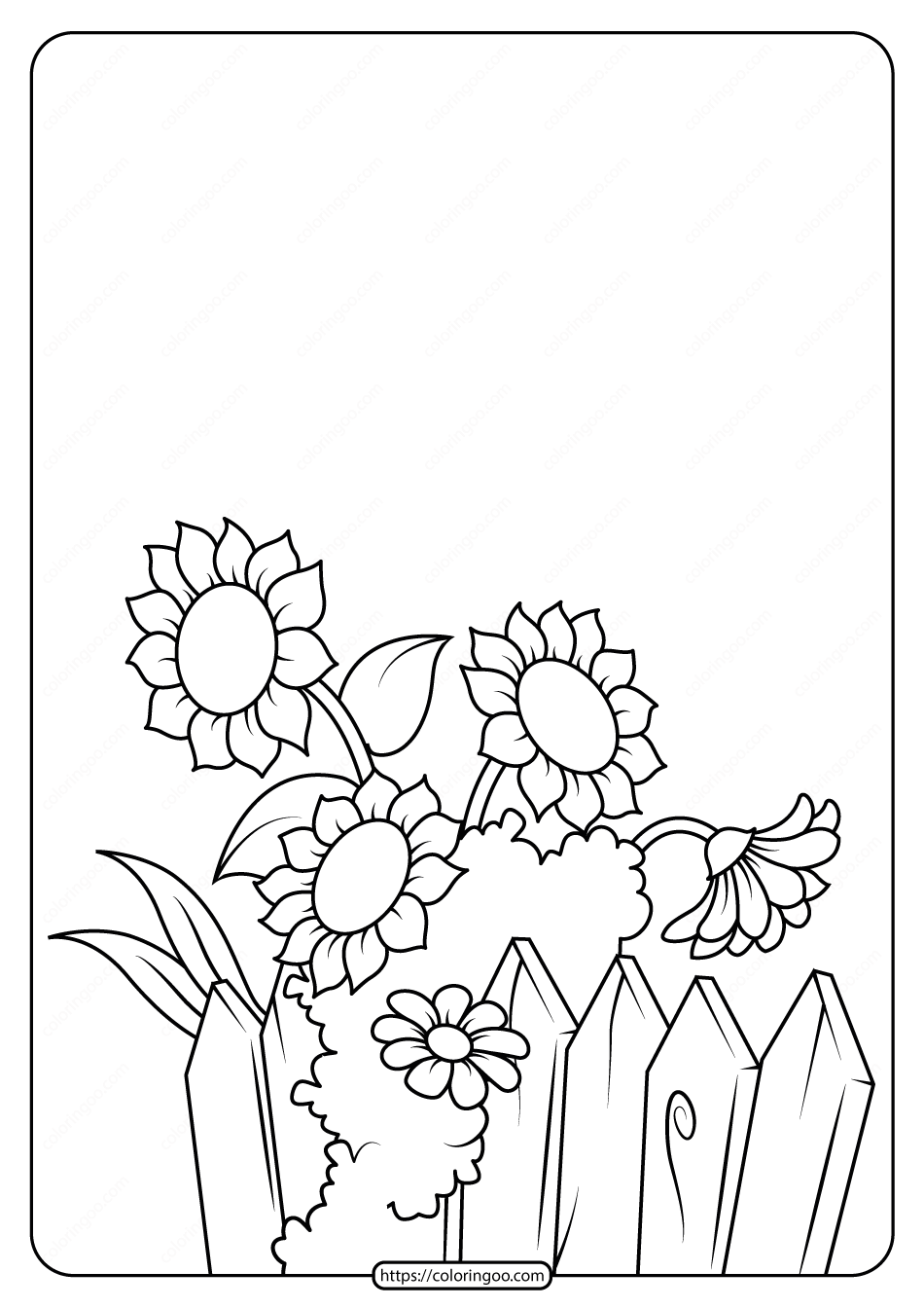 Free Printable Flowers Pdf Coloring Pages 04
