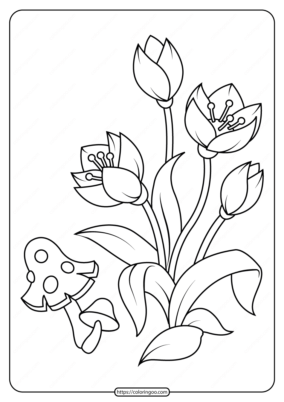 Free Printable Flowers Pdf Coloring Pages 05