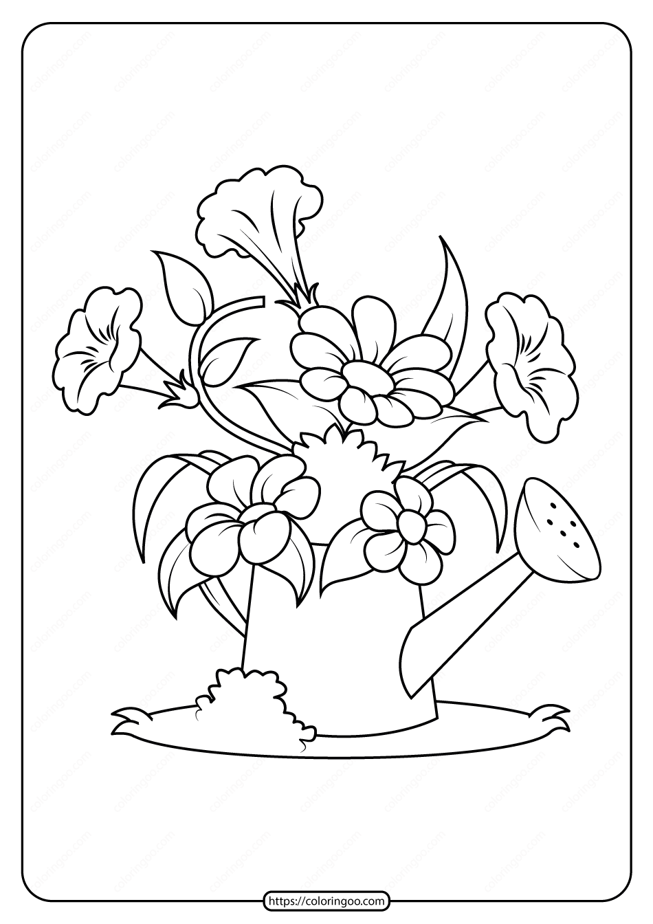 Free Printable Flowers Pdf Coloring Pages 06