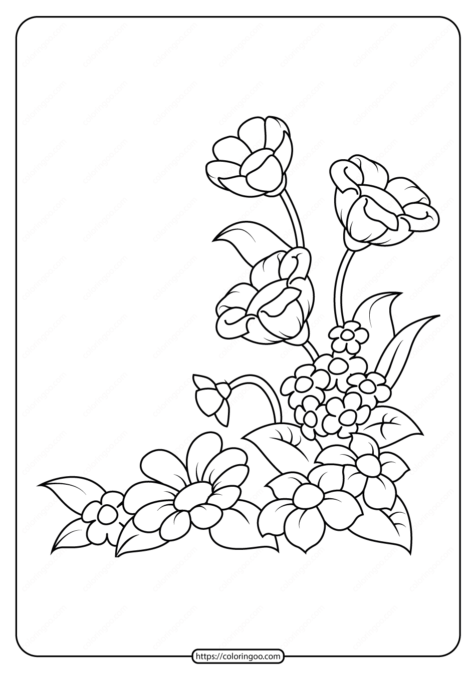 Free Printable Flowers Pdf Coloring Pages 07