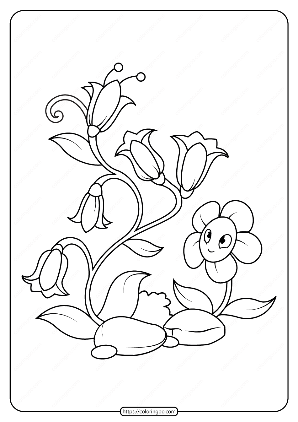 Free Printable Flowers Pdf Coloring Pages 08