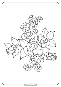 Free Printable Flowers Pdf Coloring Pages 09
