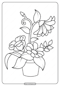 Free Printable Flowers Pdf Coloring Pages 10