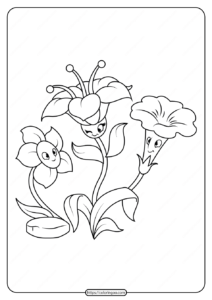 Free Printable Flowers Pdf Coloring Pages 11