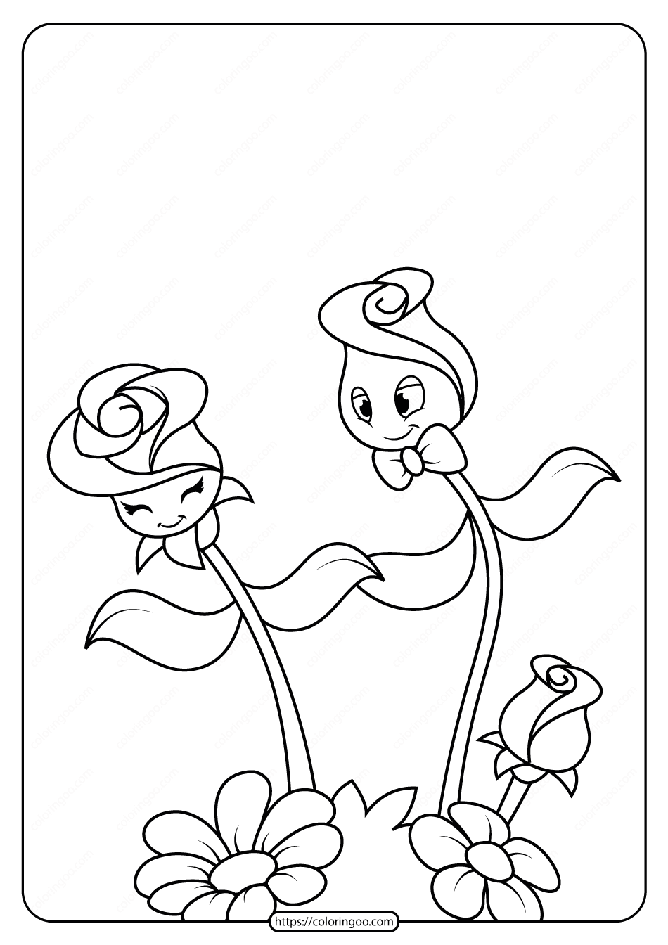 Free Printable Flowers Pdf Coloring Pages 12